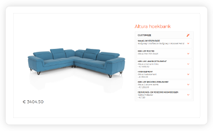 2D product configurator with renders