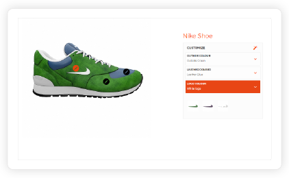 2D product configurator with visual markers