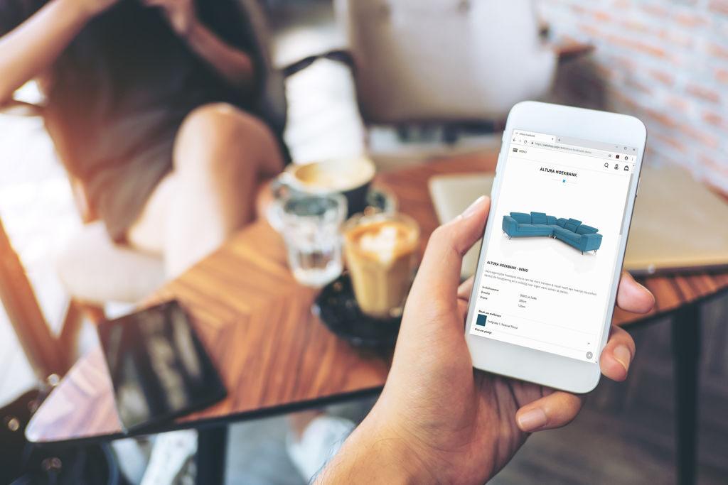 Product configurator mobile web app