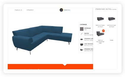 Fully interactive 3D product configurator