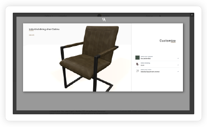 3D product configurator Simone Albani
