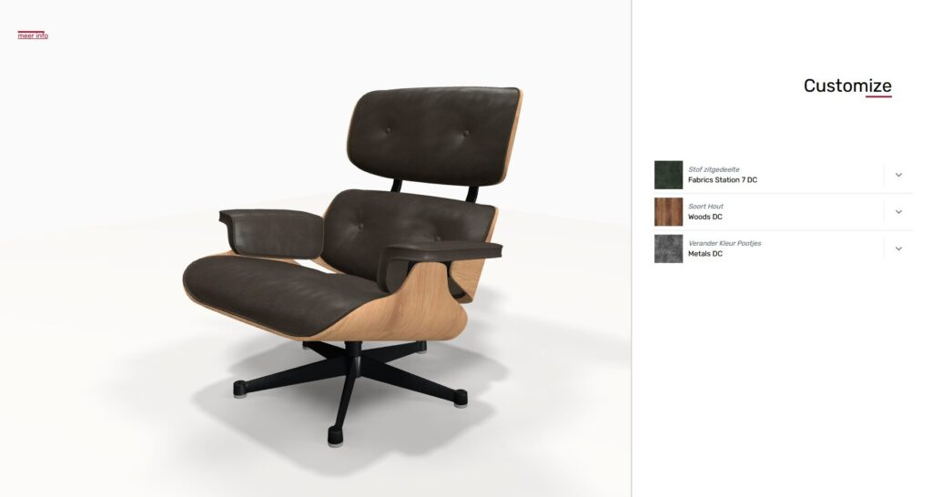 3D product configurator relax chair