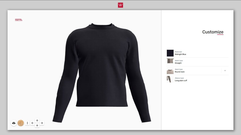 3D fashion configurator for customizable clothes