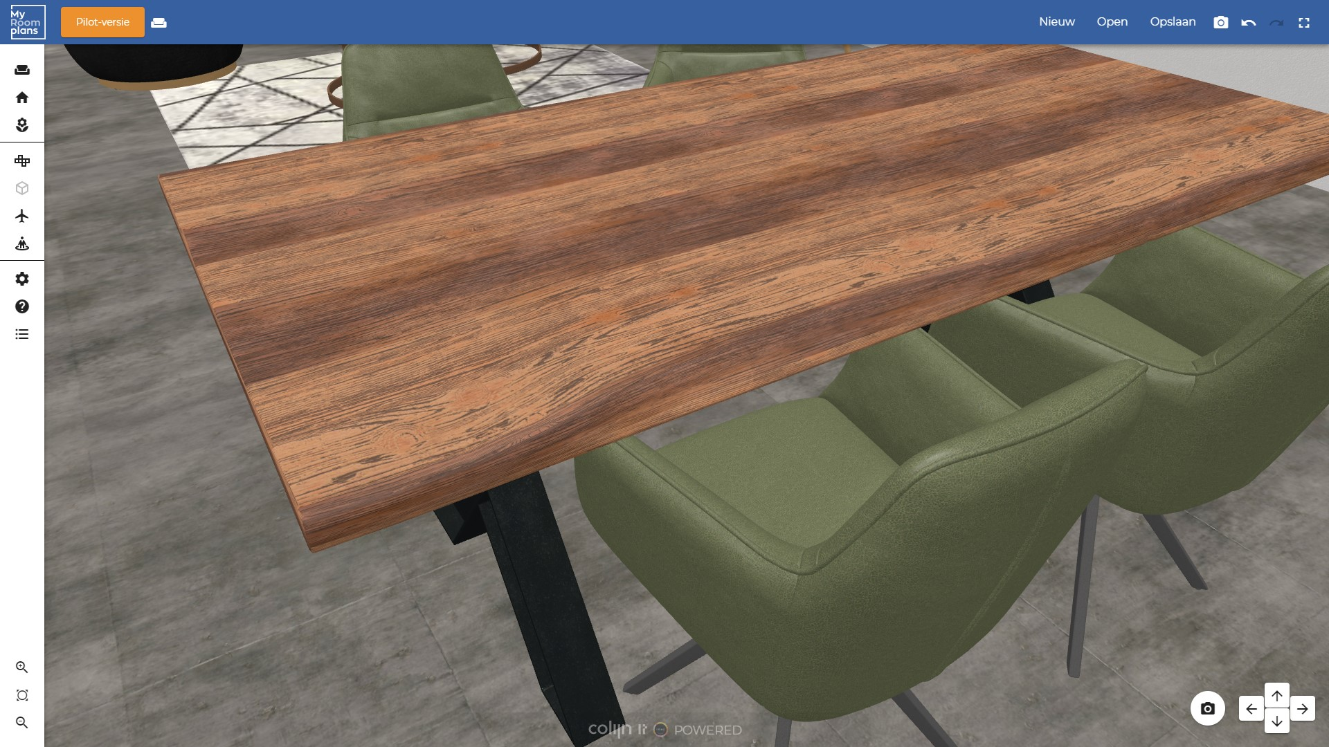 3D roomplanner with roomscene renders of configurable products